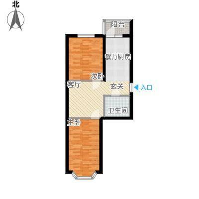 金豪斯经典二期52.11平方米户型