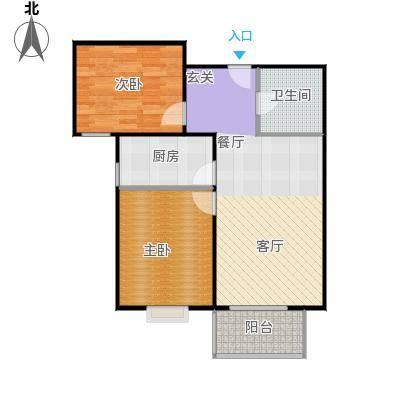 首创漫香郡11#12#13#16#B户型2室2厅1卫户型2室2厅1卫