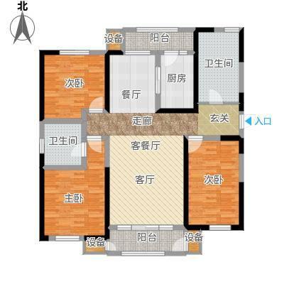意境兰庭143.00㎡C2户型3室2厅2卫