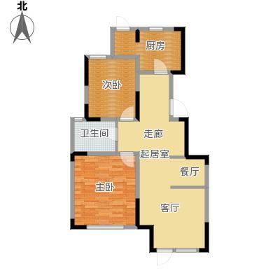 中交上东湾99.00㎡首层D-01户型2室2厅1卫