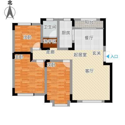 宜禾红橡公园110.00㎡洋房顶层ZT户型3室2厅1卫