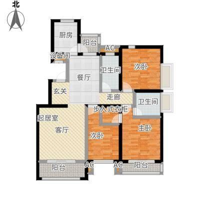 开元花半里B3户型3室2厅2卫户型3室2厅2卫