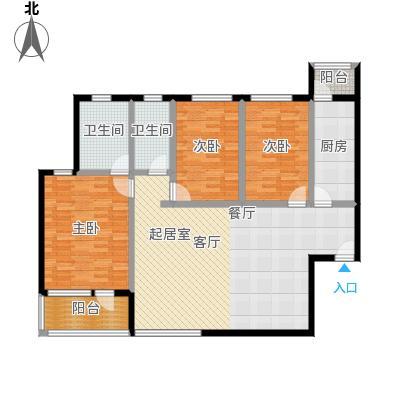 欣雅山庄132.00㎡a1户型图3室2厅2卫1厨 132.00㎡户型3室2厅2卫