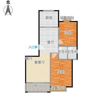 金羚嘉和馨园二期108.62㎡8#楼GB户型2室2厅1卫1厨户型2室2厅1卫