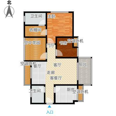 美美世界城市商业广场户型2室1厅2卫1厨