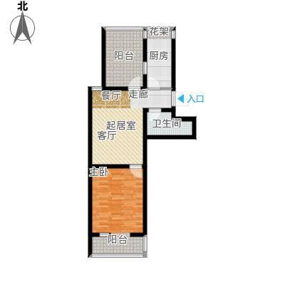 第6城二期110.00㎡1室1厅1卫户型