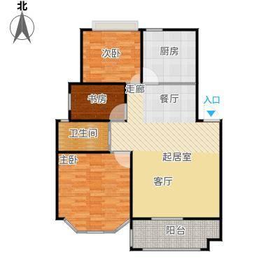丁香公馆户型3室1卫1厨