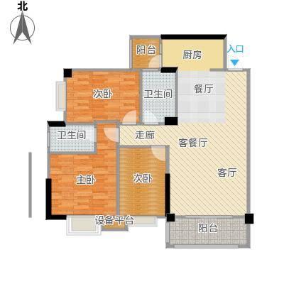 阳光花园102.00㎡B户型 6、7号楼户型3室2厅2卫