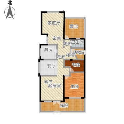 滨海湖147.00㎡滨海湖双拼A一层户型图2室2厅1卫1厨147.00平米户型2室2厅1卫