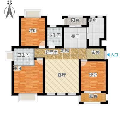 凤凰水城127.94㎡洋房C5户型3室2厅2卫