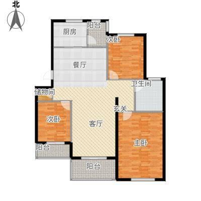 环球香樟园125.02㎡户型10室