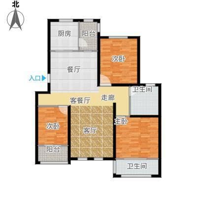 环球香樟园113.67㎡户型10室