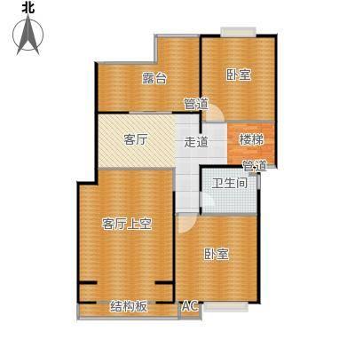 明城玫瑰园150.00㎡房型: 复式; 面积段: 150 -200 平方米;户型