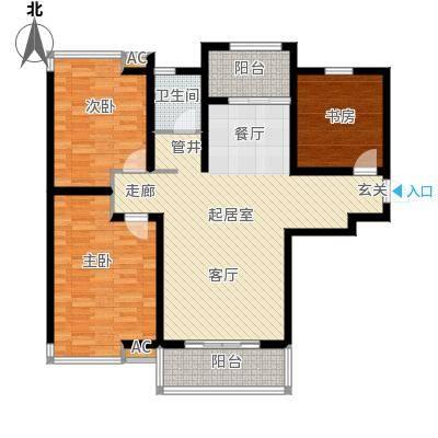 怡和名居户型3室1卫