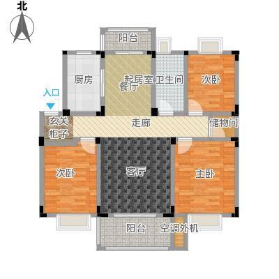 吉祥国际花园108.00㎡A户型3室2厅1卫