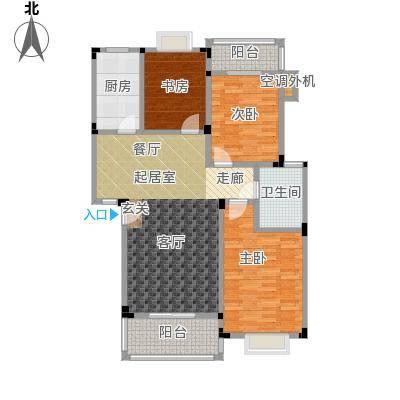 吉祥国际花园113.00㎡三期多层 D-B户型3室2厅1卫