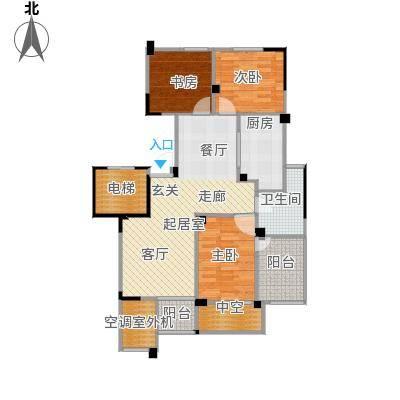 长江国际花园二期89.00㎡E8户型2室2厅1卫