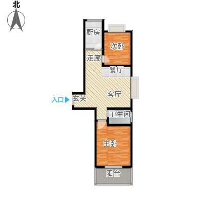 立威山两室一厅一卫户型2室1厅1卫ll