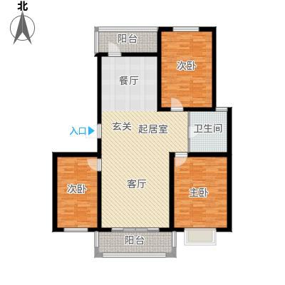 滨洲华府115.00㎡D户型3室2厅1卫