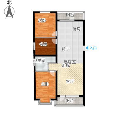 滨洲华府110.00㎡K户型3室1厅1卫