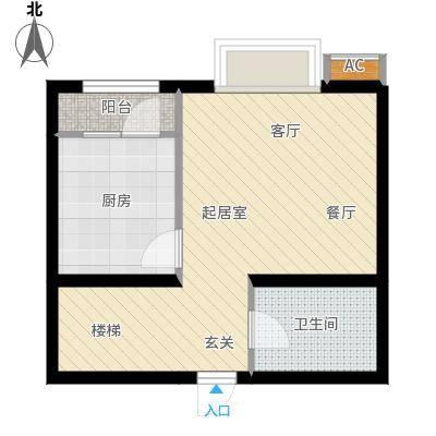 新城御景98.00㎡C3户型两室一厅两卫户型2室1厅2卫
