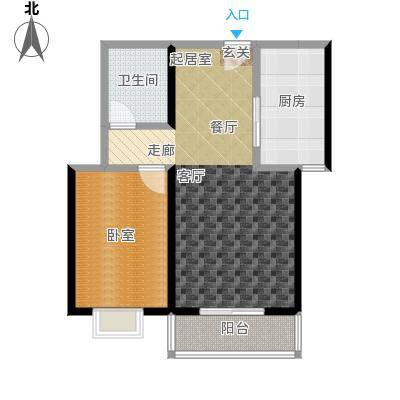 红日景园红日景园 户型图1室2厅1卫 72.5m²户型1室2厅1卫