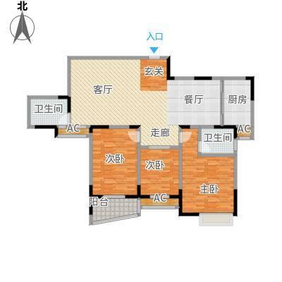 华庭锦绣苑147.70㎡户型图户型3室2厅2卫S