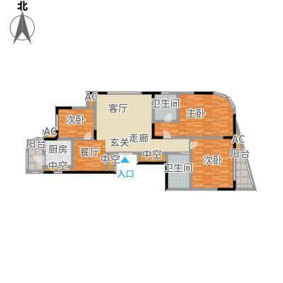 华庭锦绣苑144.38㎡户型图户型3室2厅2卫S