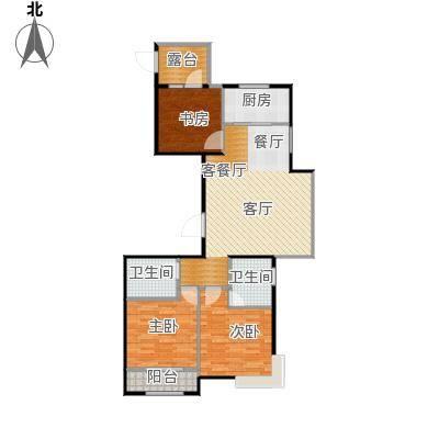 天成・明月洲116.00㎡23-J户型3室2厅2卫