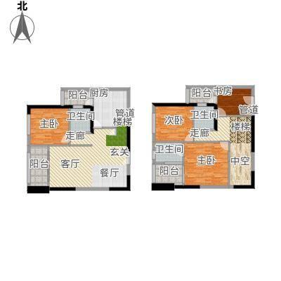 华贸中心复试户型4室1厅3卫1厨