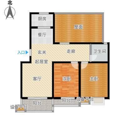 亚美国际花园103.00㎡两室两厅一卫1032室2厅1卫1厨 103.00㎡户型2室2厅1卫