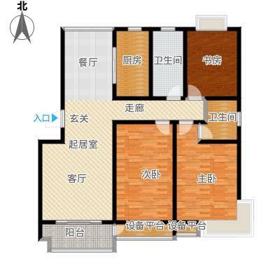 亚美国际花园128.00㎡三室两厅两卫1283室2厅2卫1厨 128.00㎡户型3室2厅2卫