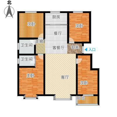 孔雀城162.56㎡A户型4室2厅2卫