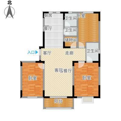 碧水庄园3#4#a户型3室2厅2卫