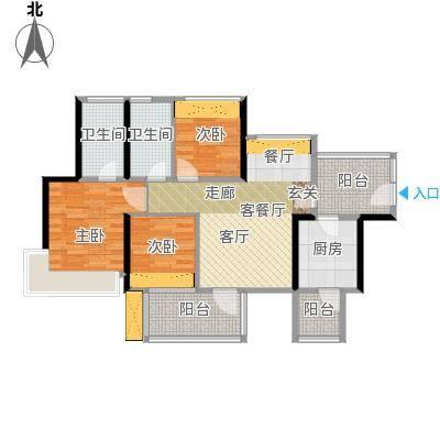 潜龙曼海宁(南区)3栋3-A3阳台户型3室1厅2卫1厨