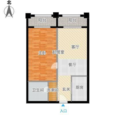 明发商业广场77.09㎡A1户型
