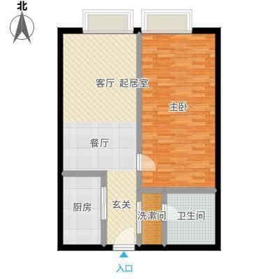 明发商业广场73.33㎡A2户型