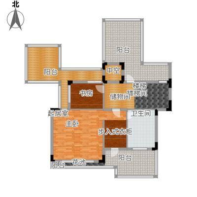 招商观园VC(4)户型3层平面户型6室3厅5卫