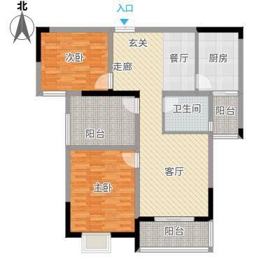皇廷御苑C户型2室1厅1卫1厨