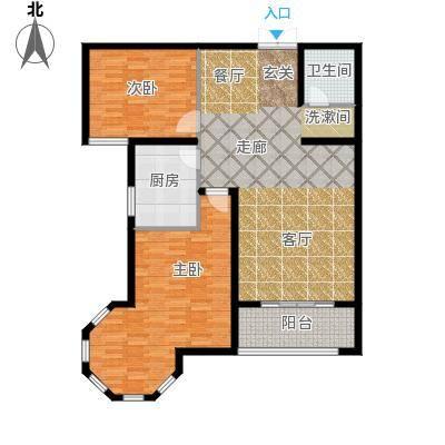 南阳桂花城御景117.22㎡3室2厅1卫1厨户型3室2厅1卫