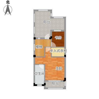 壹号公馆65.00㎡别墅E三层户型4室2厅4卫