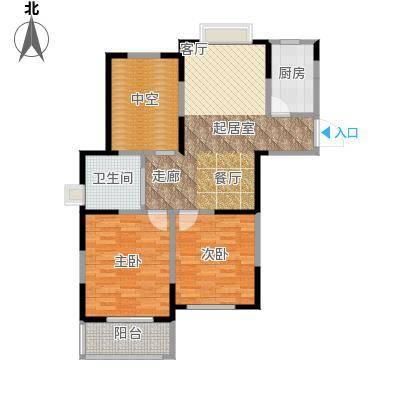 金域兰庭90.00㎡F2户型2室2厅2卫