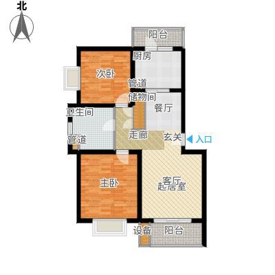 绿地金山老街93平米2室2厅1卫户型