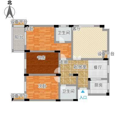 嘉丽阳光广场140.00㎡D户型3室2厅2卫
