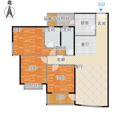 海上明珠园135平方米的三房两厅两卫南北户型