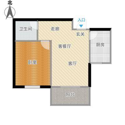 和平嘉园和平嘉园 户型图58㎡一室一厅一卫户型1室1厅1卫