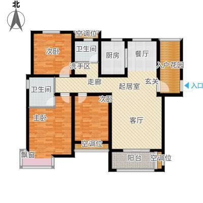 昊和沁园2122#楼户型3室2卫1厨
