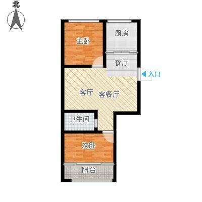 盛祥佳苑户型2室1厅1卫1厨