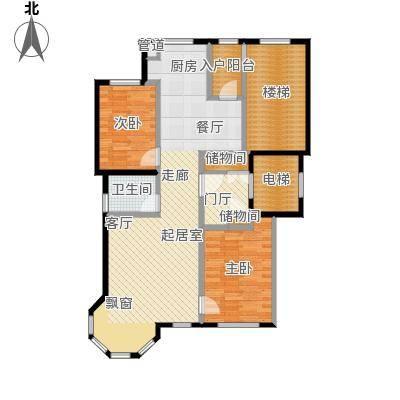 世茂威廉公馆103.00㎡两室两厅 建筑面积 103平户型