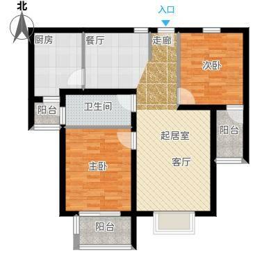 融基・书香苑89.00㎡二室二厅一卫89.71平方米户型
